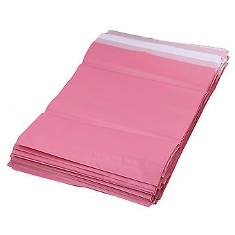 100 x Self Sealing Pink Postal Mailing Waterproof Shipping Bags 25x35cm