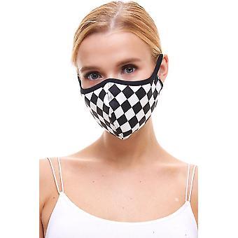 Checker Print Reusable Face Masks