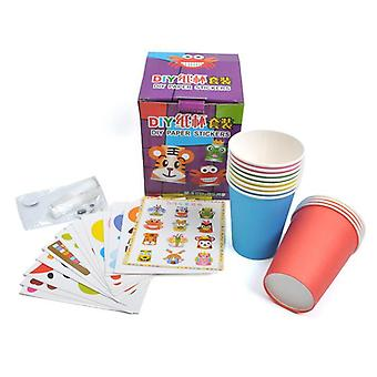 Children 3d Diy Handmade Paper Cups/sticker Material Kit/ Whole Set Kids