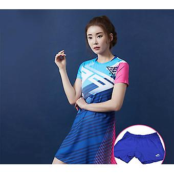 Women Sport Sulkapallo / Tennismekot, Slim Sportswear Set Turvas shortsit