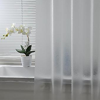 Plastic Waterproof Shower Curtain, Thickened Bath Frosted Atmosphere Partition