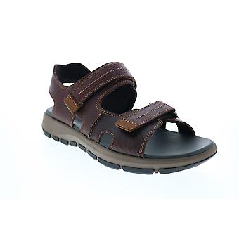 Clarks Brixby Shore  Mens Brown Leather Strap Sport Sandals Shoes