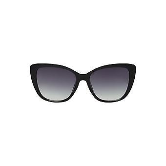 لوش النساء سام القط العين النظارات الشمسية الجوانب المعدنية السوداء