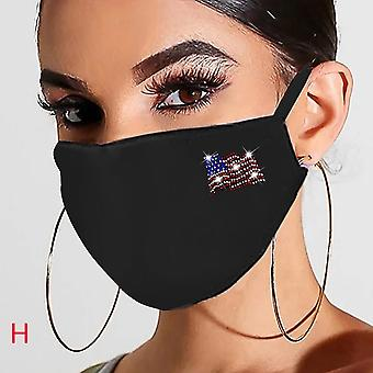 Women Reusable, Breathable Fashion Ice Windproof, Dustproof Cotton Mask
