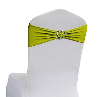 Spandex Sash Bands With Heart Shape Buckle For Wedding, Party, Birthday Chair