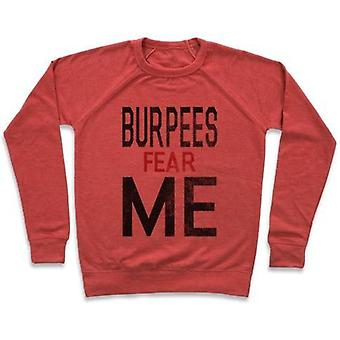 Burpees fear me (tank) crewneck sweatshirt