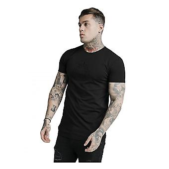 Sik Silk Mens Prestige Embroidery Gym T-shirt Black