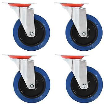 vidaXL drejelige hjul 4 stk. 100 mm