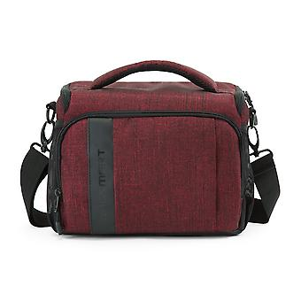 Bagsmart slr/dslr camera gadget messenger bag with waterproof rain cover red