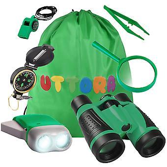 Uttora outdoor explorer kit gifts toys kids binoculars set, outdoor exploration set, suggest for 6+