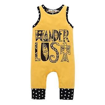 Summer Sleeveless Adventurer Yellow Romper Clothes