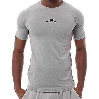 Compresie, Antrenament Sport Running, Scurt Jogging T-shirt Men Fitness Jersey