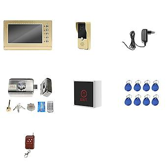 Dragonsview Video Door Phone Wired  Video Intercom With Lock Home Access