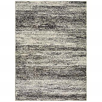 3'x5' Distressed Ash and Charcoal Abstract Indoor Area Rug