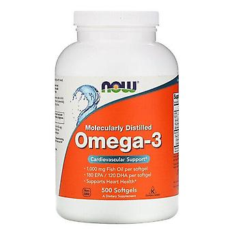 Now Foods, Molecularly Distilled Omega-3, 500 Softgels
