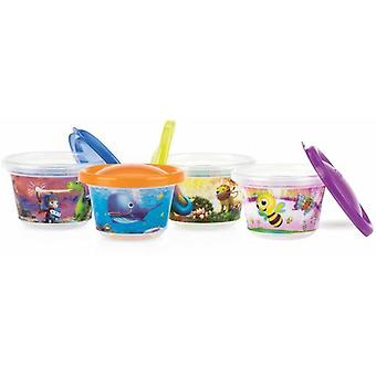 Nuby 4 Set of hermetic containers - 120 ml - 3m +