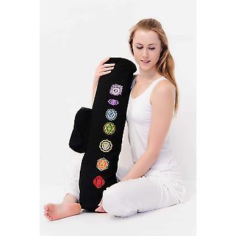 Chakra Yoga Mat Bag - Black, Embroidered