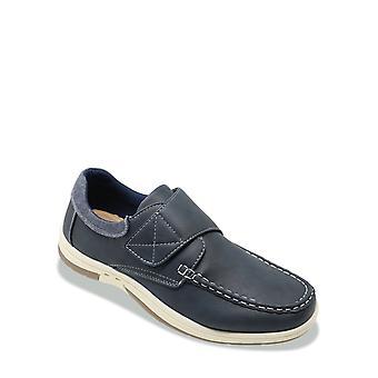 Dr Keller Mens Wide Fit Boat Shoe Touch Fasten