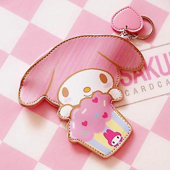 Кожаная монета кошельки Розовый Кролик Keychain