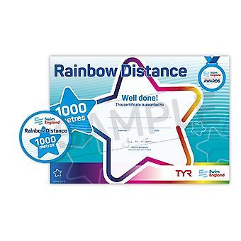 ASA zwemmen Engeland Rainbow afstand zwemmen Award - 1000M