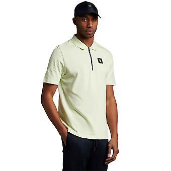 Lyle & Scott Casuals Zip Polo Shirt - Lucid Green