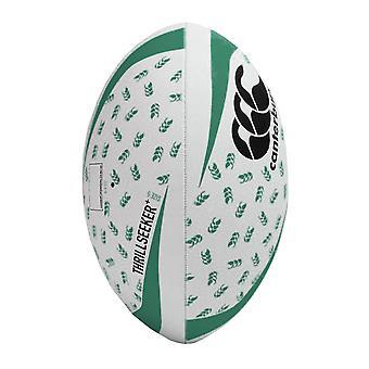 Canterbury Thrillseeker+ Rugby League Union Training Ball White/Black/Green