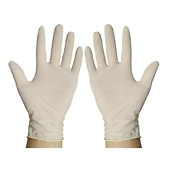 Gants jetables en latex de protection de travail de 100pcs 23cm
