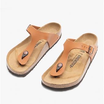 Birkenstock Gizeh 1019082 (reg) Naiset Birko-flor Toe Post Sandaalit Ginger Brown