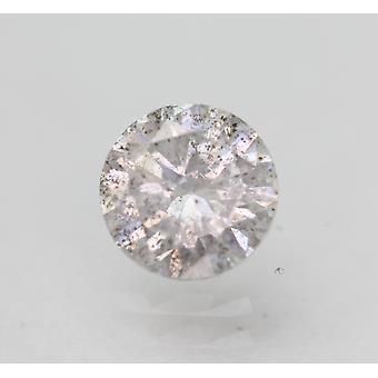 Cert 0,70 karat vaalea hopea SI2 pyöreä brilliant parannettu luonnollinen timantti 5,6mm