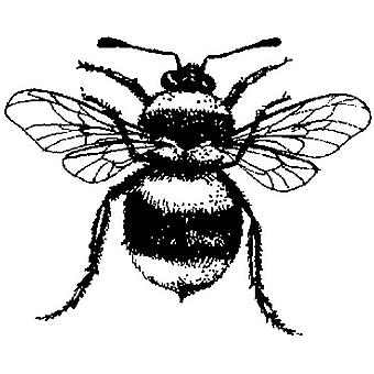 Bee Wood Mounted Stamp