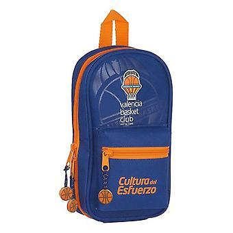 Backpack Pencil Case Valencia Basket Blue Orange (33 Pieces)