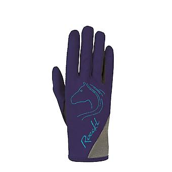 Roeckl Teenies Tryon Riding Gloves - Navy Blue