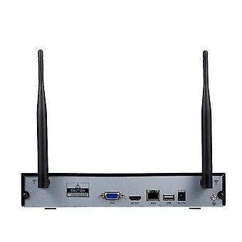 4CH NVR + 4 pcs1080PカメラキットナイトビジョンIPカメラセキュリティと監視システムサポートリモートコントロール英国プラグ