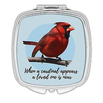 Gift Compact Mirror: When a Cardinal Appear Lost