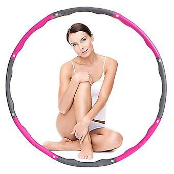 7 Knots Fitness Hoop Pink Removable Yoga Hoop Waist Exercise Slimming Sport Hoop