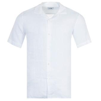 NN07 Miyagi Linen Short Sleeve Shirt - White