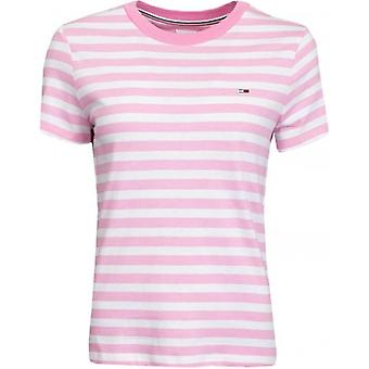 Tommy Jeans Badge Logo Klassisk Randig T-Shirt