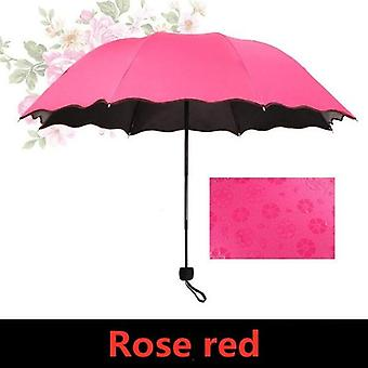 Creative Magic Water Blossom Umbrella(Rose Red)