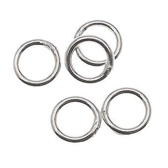 Sterling Sølv Lukket Jump Ringe 5mm 20 Gauge (10)