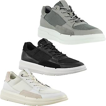 ECCO Mens Soft X Suede Lace Up Sports Casual Trainers Sneakers Shoes