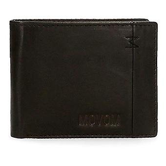 Movom Fantasy Horizontal wallet with removable paper holder Black 11x8.5x1 cms Leather