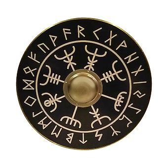 Wooden Vegvisir Viking Compass handmade shield SWE33