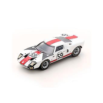 Ford GT40 S. Scott - P. Revson (24H Le Mans 1966) Diecast Model