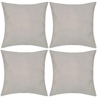 4 beigtä tyynyliinaa pellaoptiikka 40 x 40 cm