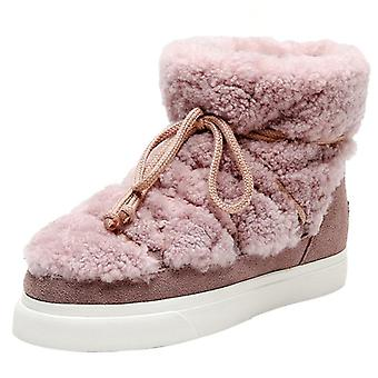 Sweet Women Wool Cow Suede Ankle Boots