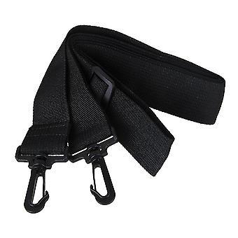 لحزام الكتف 38mm عرض قابل للتعديل واسعة مع البلاستيك السنانير الأسود WS227