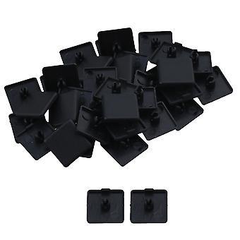 40 x noir single trou extrusion embout bouchon 20x20mm Accessoires industriels