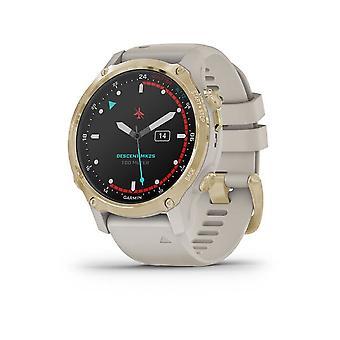 Garmin Smartwatch Unisex Descent™ Mk2S Beige/Gold 010-02403-01