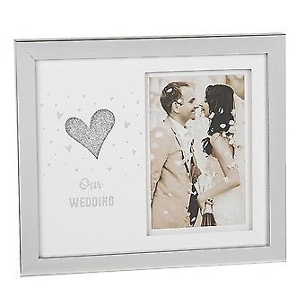 Joe Davies hjärta klippte ut vårt bröllop 4 x 6 fotoram 202155