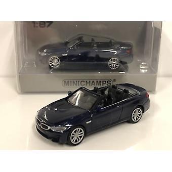 Minichamps 870027232 BMW M4 Cabrio 2015 Blue Metallic 1:87 Scale
